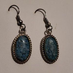 Vintage Sterling Silver Dangle Earrings